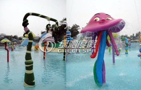 Summer Theme Park Swimming Pool Flower Spray Aqua Park Equipment for Kids and Adults