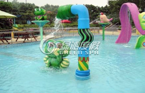 Children Aqua Park Equipment Frog Spray for Summer Entertainment