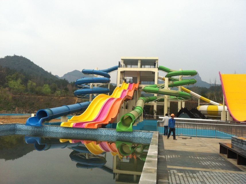 Medium Outdoor Commercial Water Slide Combination for Adults and Kids